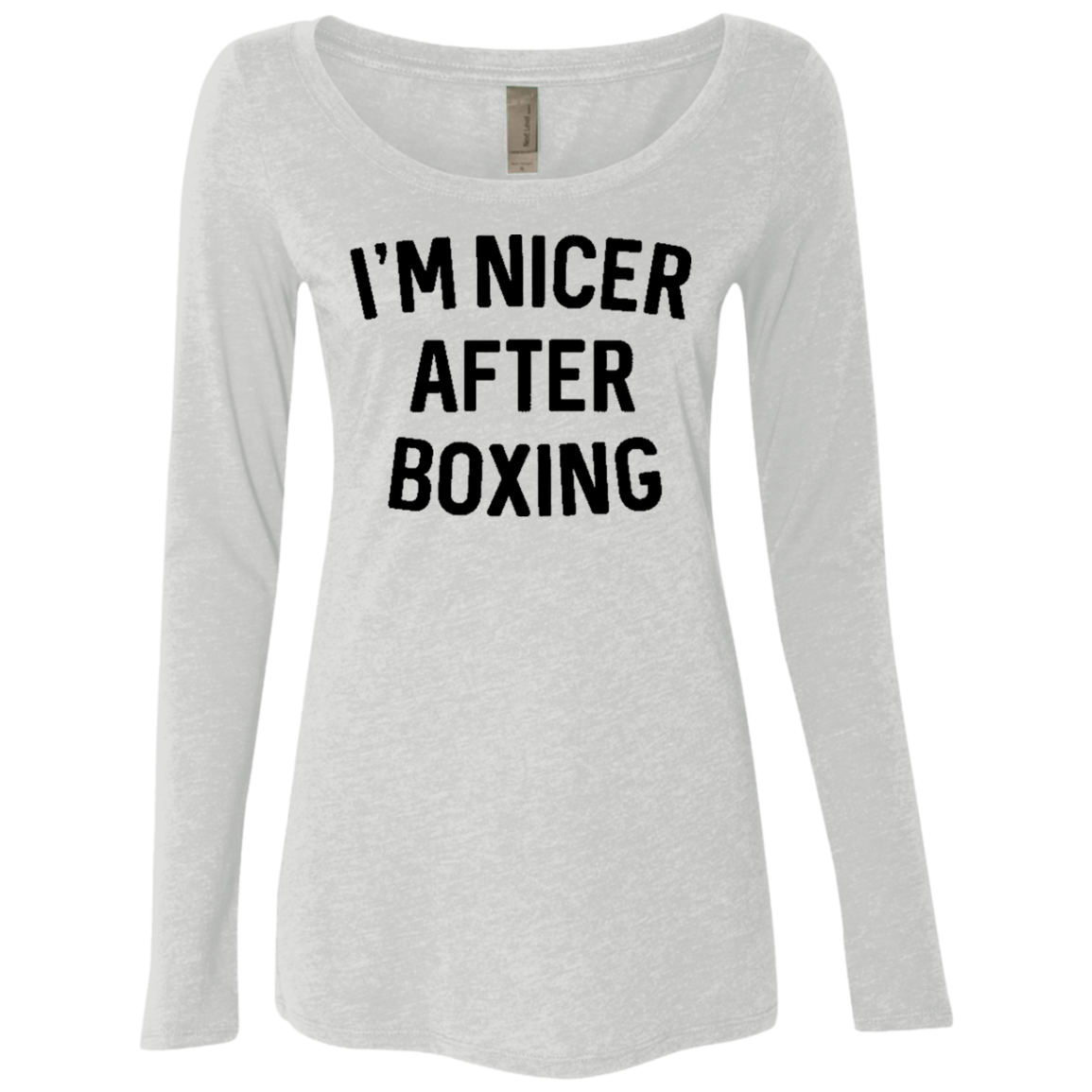I'm Nicer After Box Women's Long Sleeve Tee