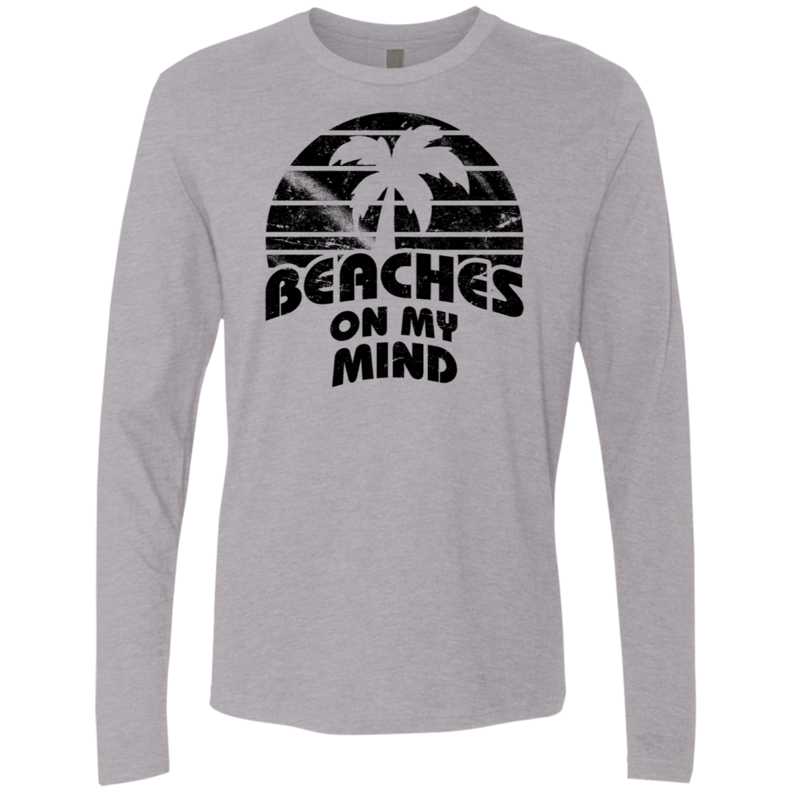 Beaches on my Mind Men's Long Sleeve Tee - Trendy Tees