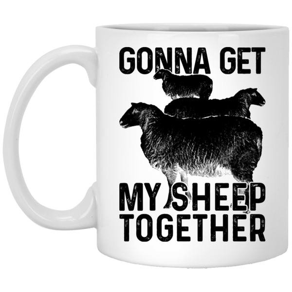 Gonna Get My Sheep Together 11 oz. White Coffee Mug
