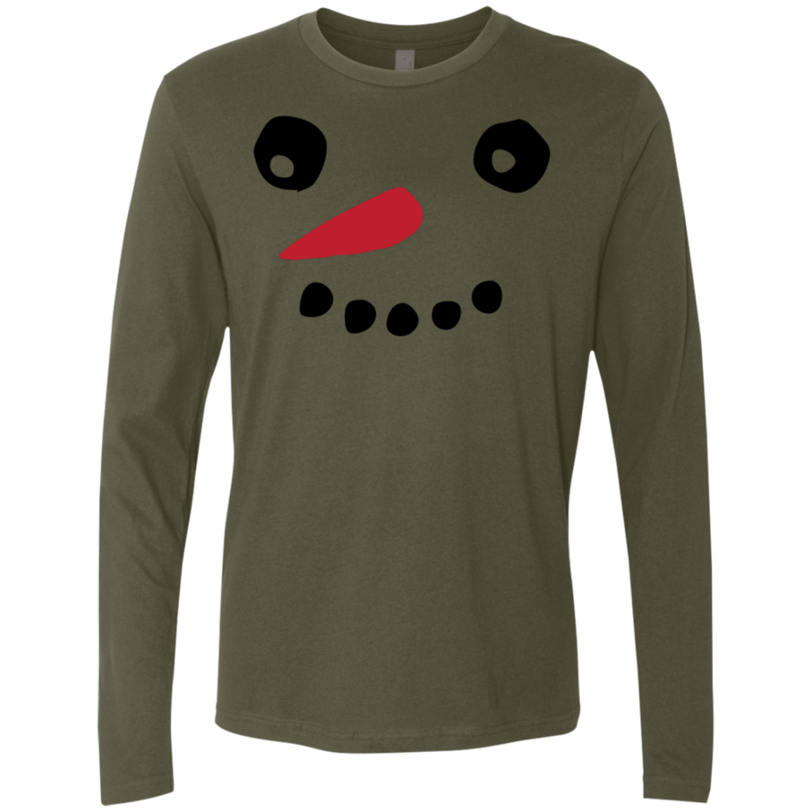Frosty the Snowman Face Men's Long Sleeve Tee