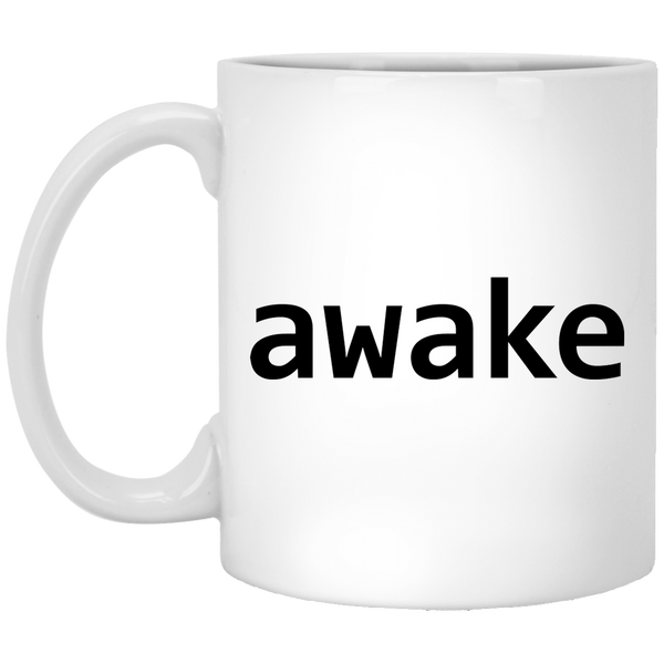Awake 11 oz. White Coffee Mug - Trendy Tees