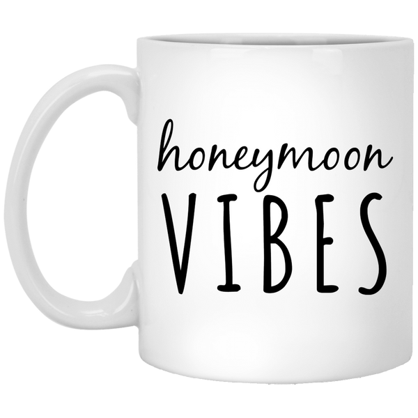 Honeymoon Vibes 11 oz. White Coffee Mug - Trendy Tees