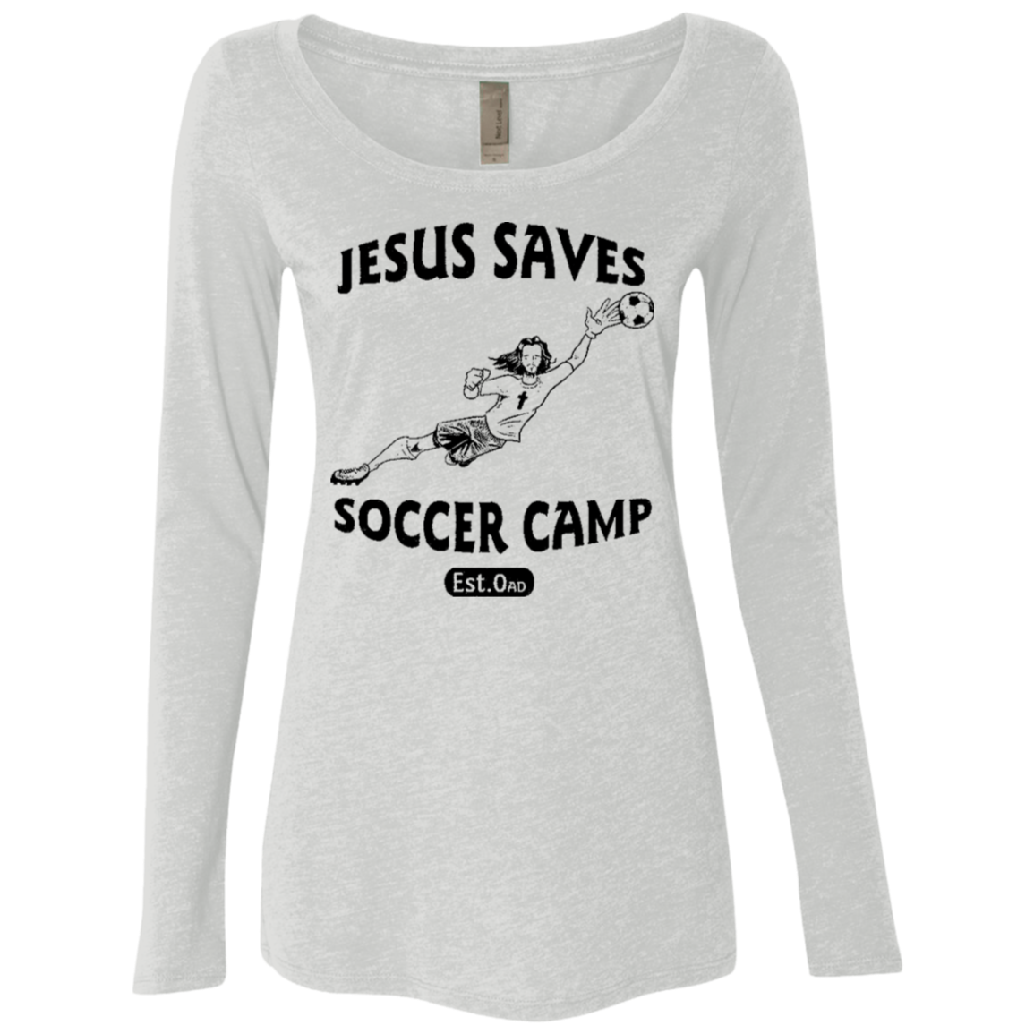 Jesus Saves Soccer Camp Women's Long Sleeve Tee