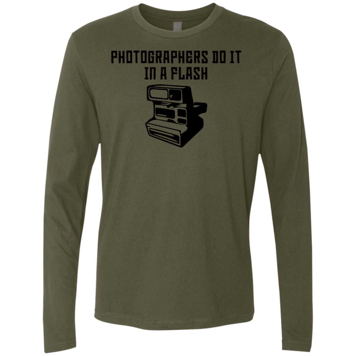 Photographers Do It In A Flash Men's Long Sleeve Tee