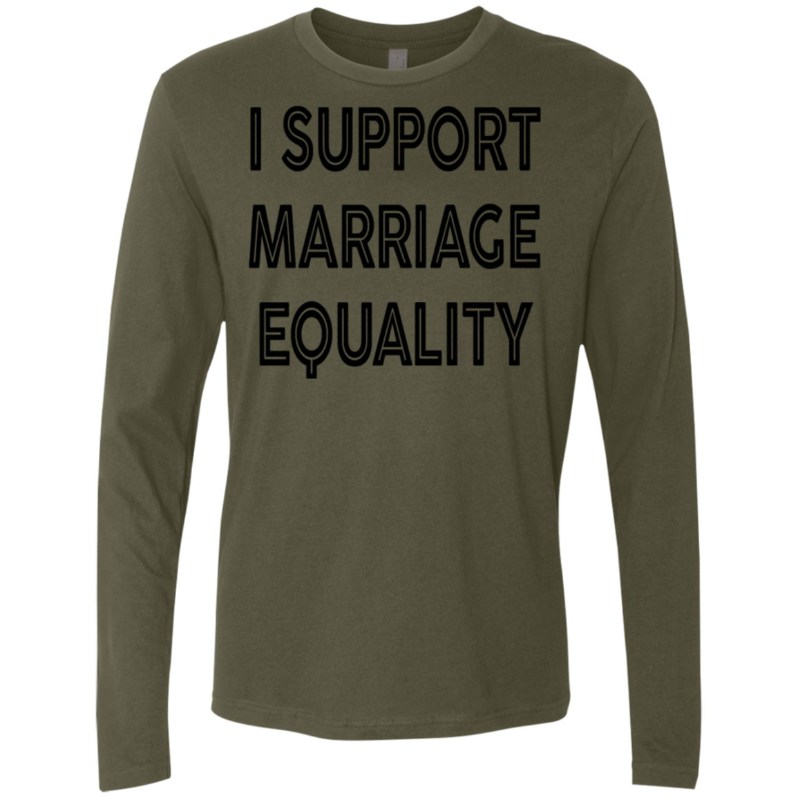 I Support Marriage Equality Men's Long Sleeve Tee