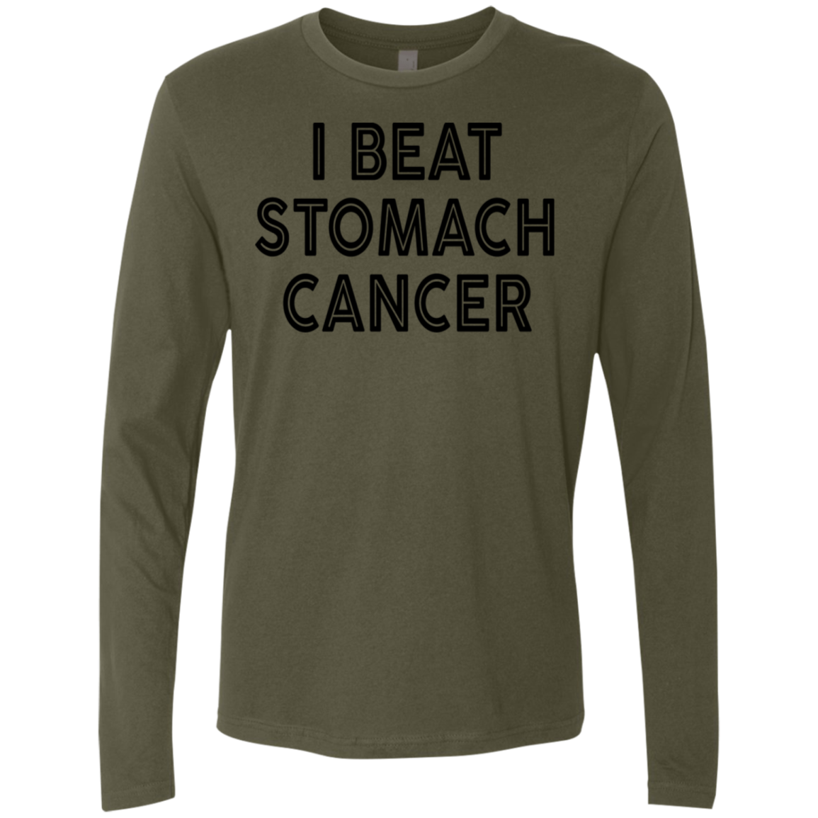 I Beat Stomach Cancer Men's Long Sleeve Tee