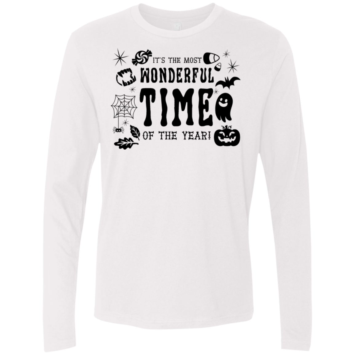 It's The Most Wonderful Time Of The Year Spooky Men's Long Sleeve Tee