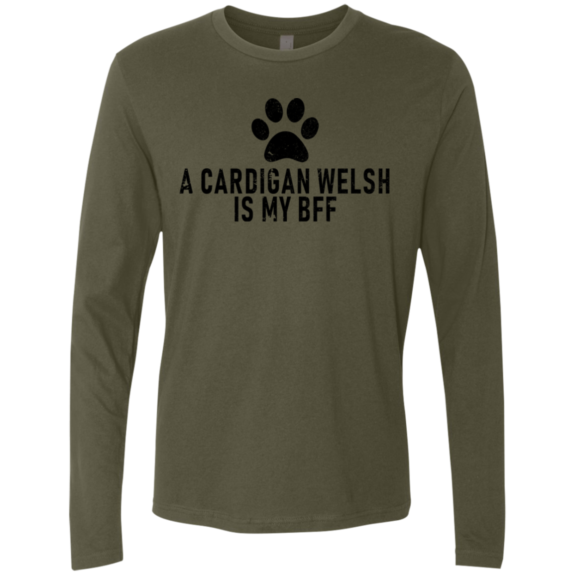 A Cardigan Is My Bff Men's Long Sleeve Tee