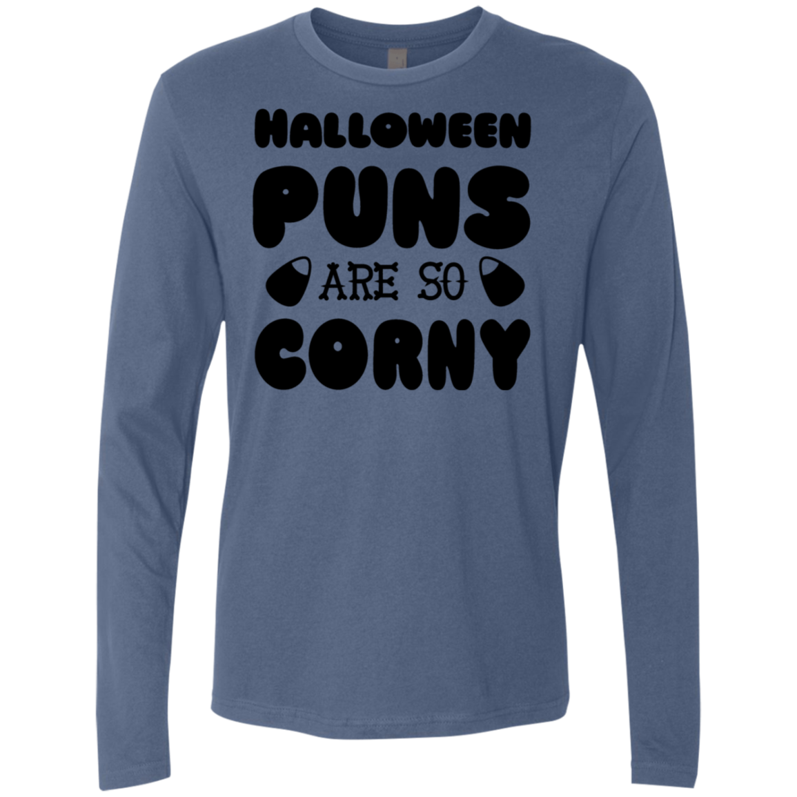 Halloween Puns Are So Corny Men's Long Sleeve Tee