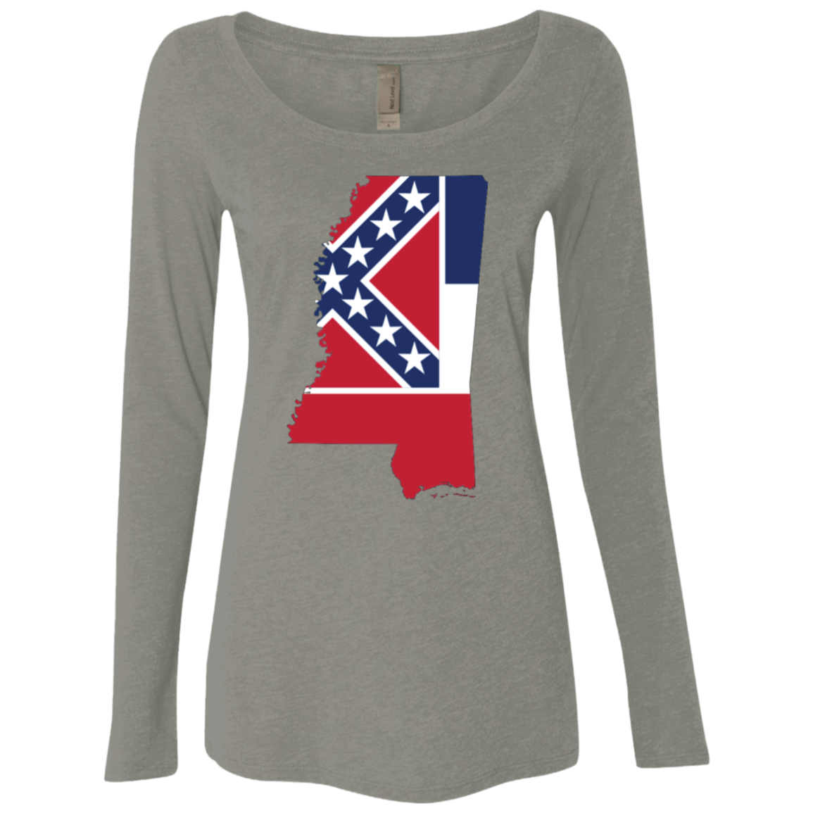 Mississippi Southern Flag Women's Long Sleeve Tee