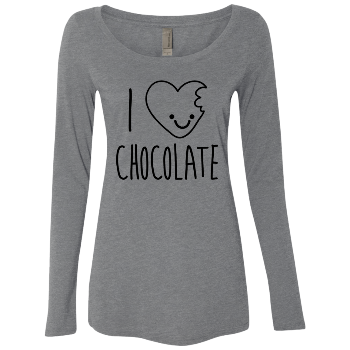 I Love Chocolate Women's Long Sleeve Tee