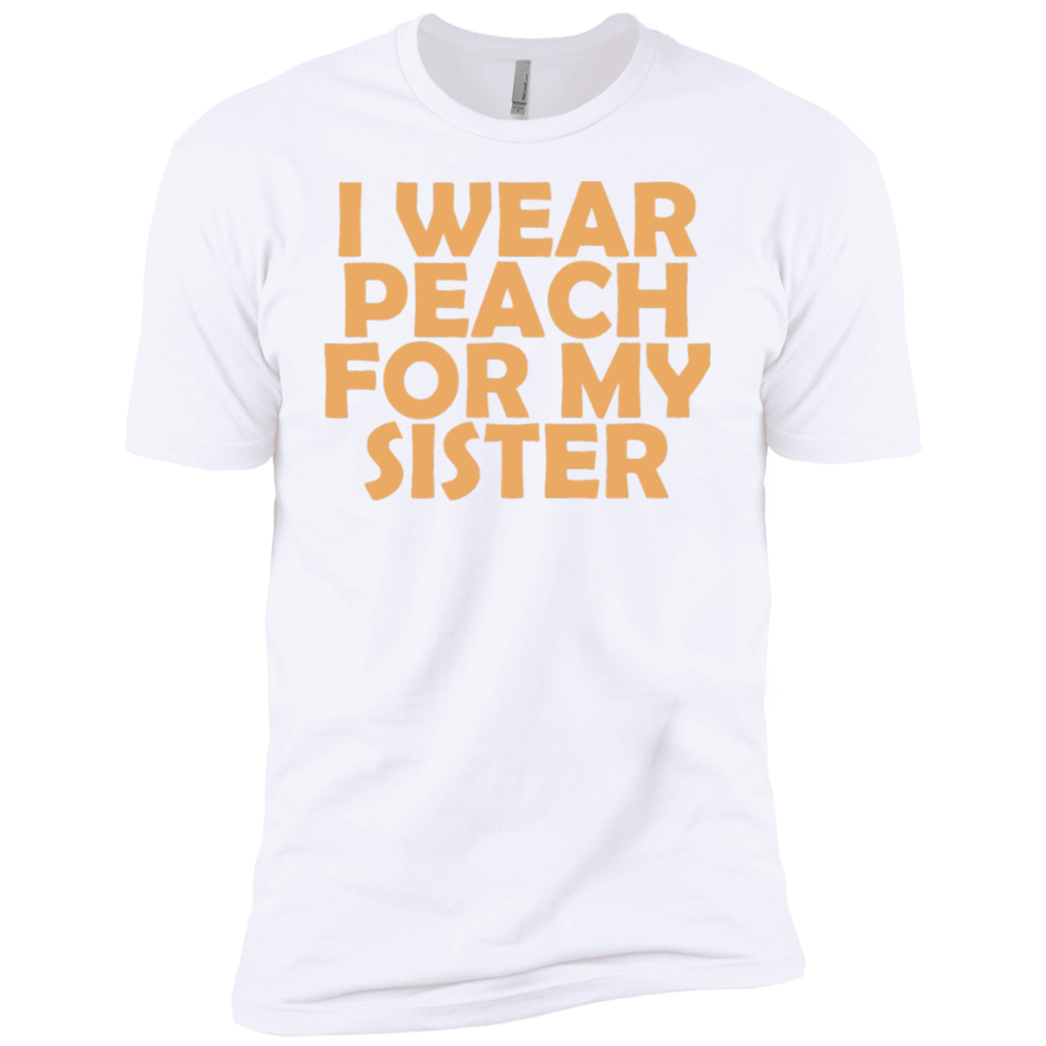 I Wear Peach For My Sister Men's Classic Tee