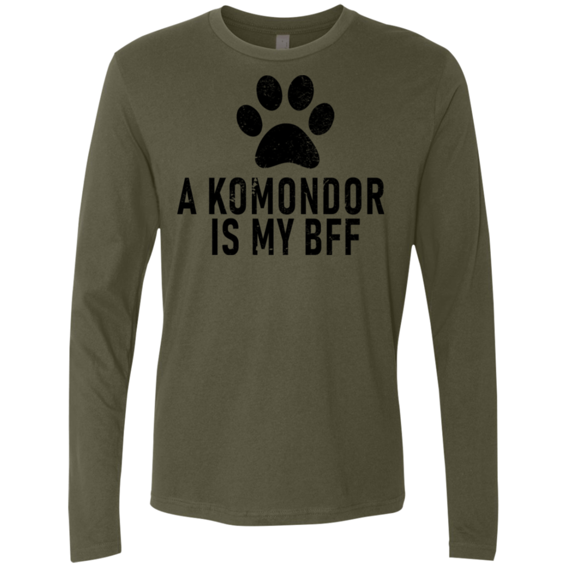 A Komondor Is My Bff Men's Long Sleeve Tee