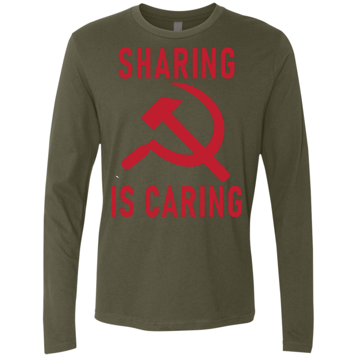 Sharing Is Caring Men's Long Sleeve Tee