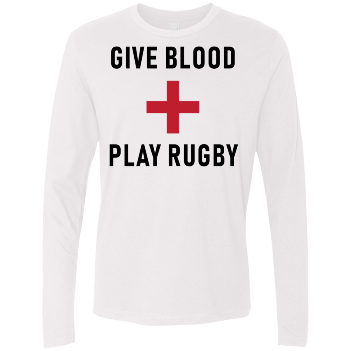 Give Blood Play Rugby Men's Long Sleeve Tee