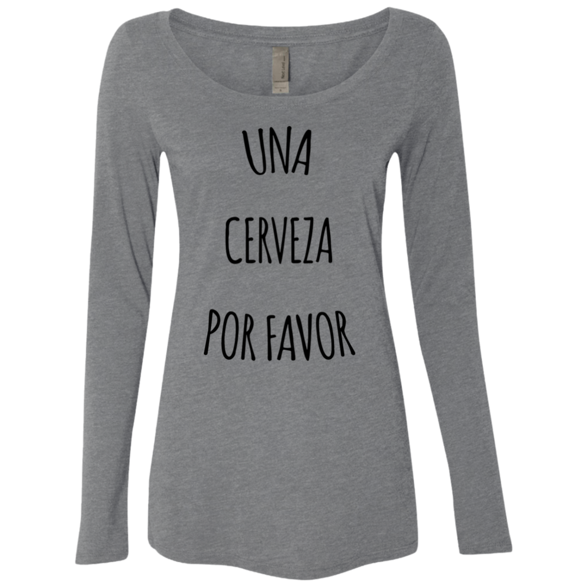 Una Cerveza Por Favor Women's Long Sleeve Tee