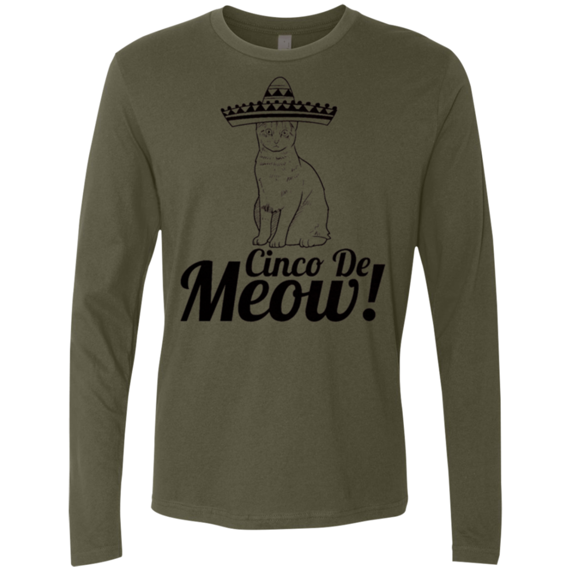 Cinco de Meow Men's Long Sleeve Tee - Trendy Tees