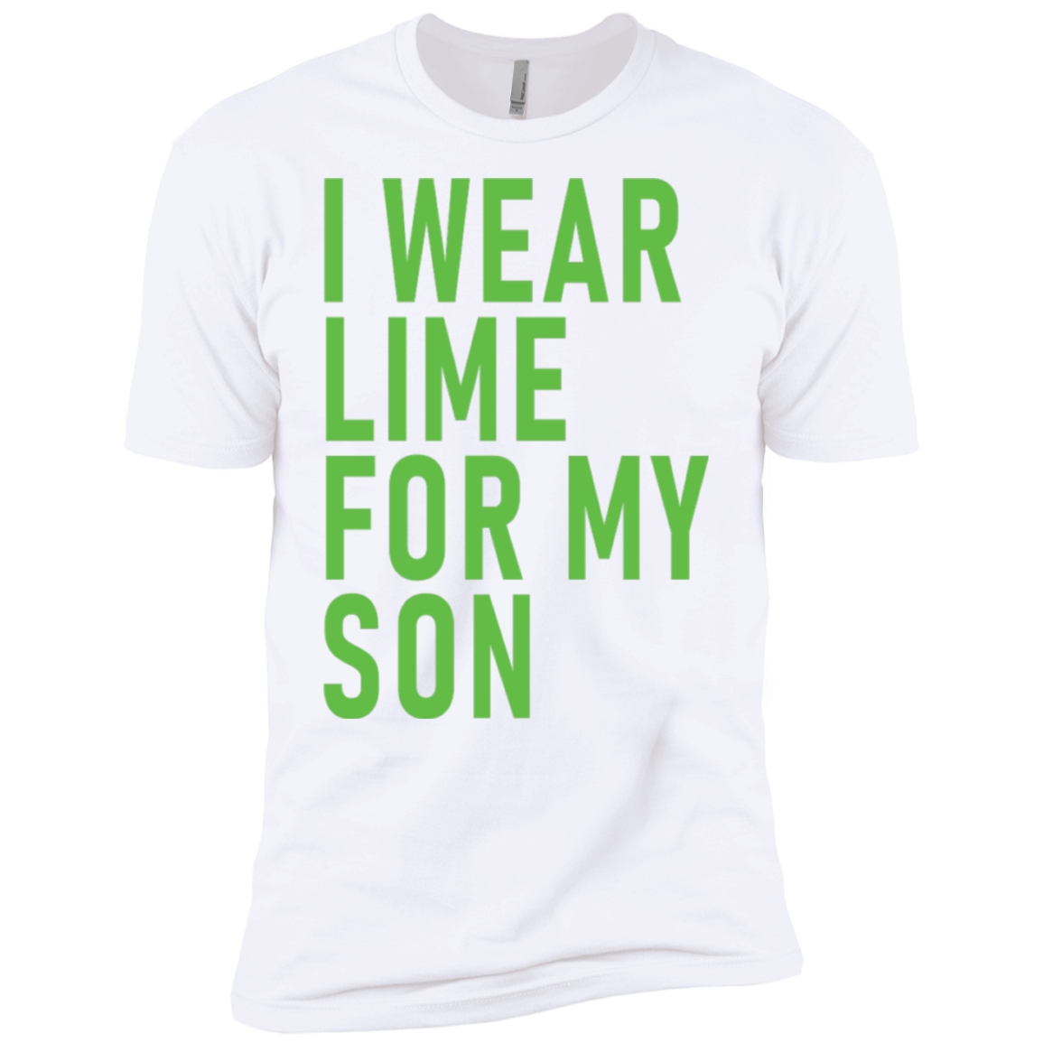 I Wear Lime For My Son Men's Classic Tee