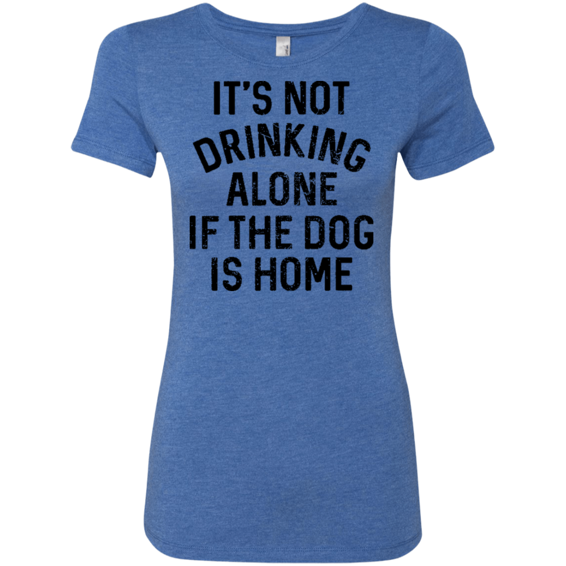 It's Not Drinking Alone If The Dog Is Home Women's Classic Tee