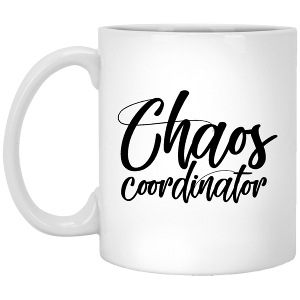 Chaos Coordinator 11 oz. White Coffee Mug - Trendy Tees