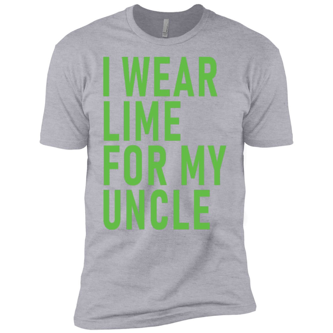 I Wear Lime For My Uncle Men's Classic Tee