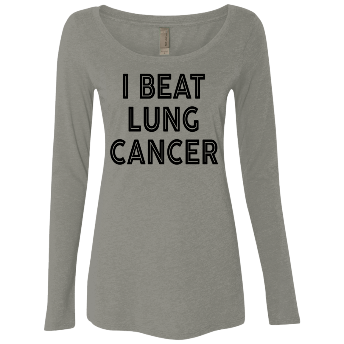 I Beat Lung Cancer Women's Long Sleeve Tee