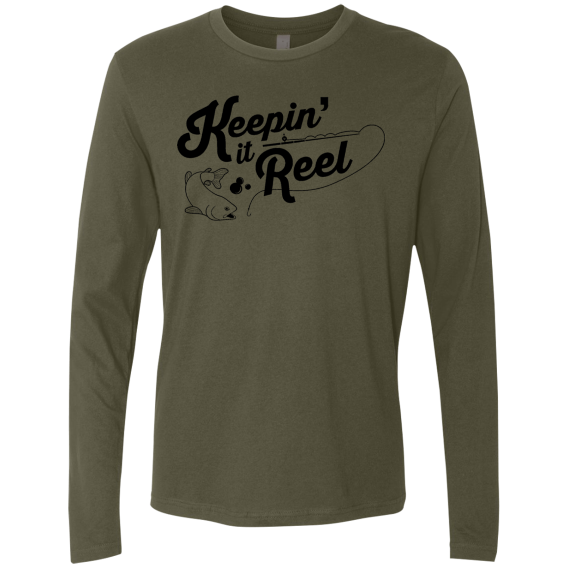 Keepin It Reel Fishing Men's Long Sleeve Tee