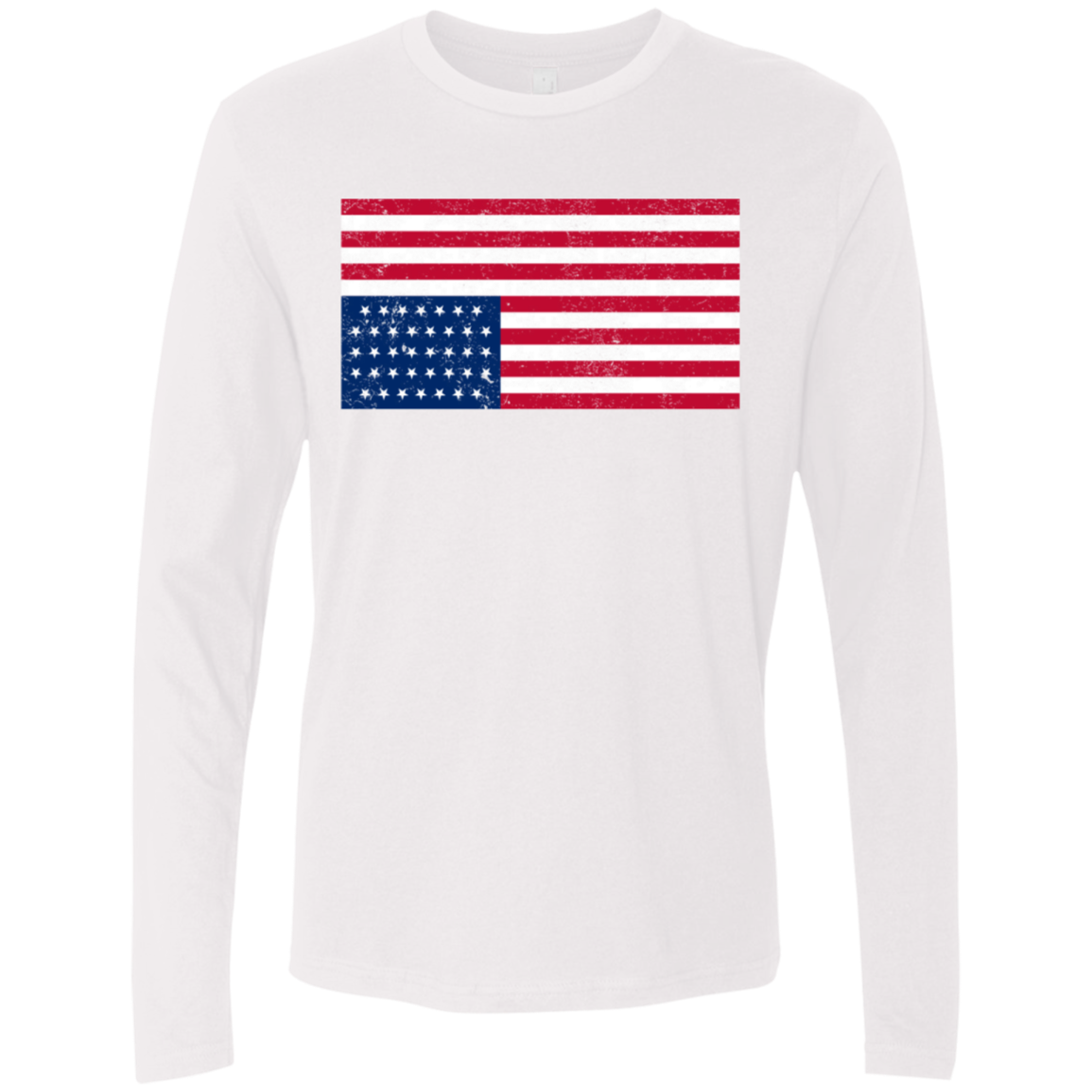 Inverted US Flag House of Cards Men's Long Sleeve Tee