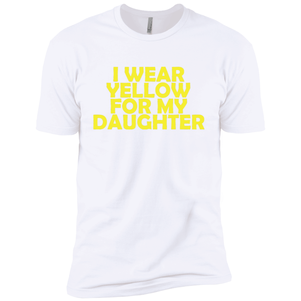 I Wear Yellow For My Daughter Men's Classic Tee