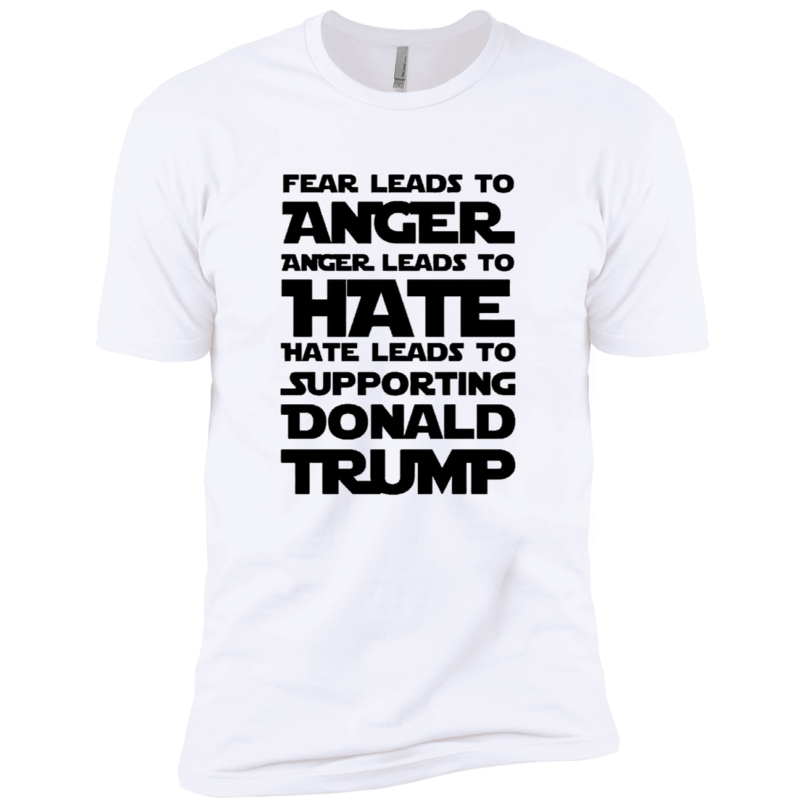 Fear Leads To Anger Anger Leads To Hate Hate Leads To Supporting Donald Trump Men's Classic Tee