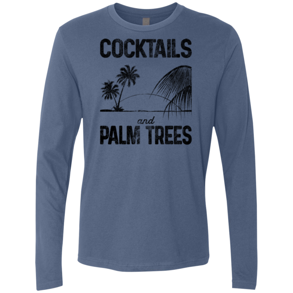 Cocktails and Palm Trees Men's Long Sleeve Tee - Trendy Tees
