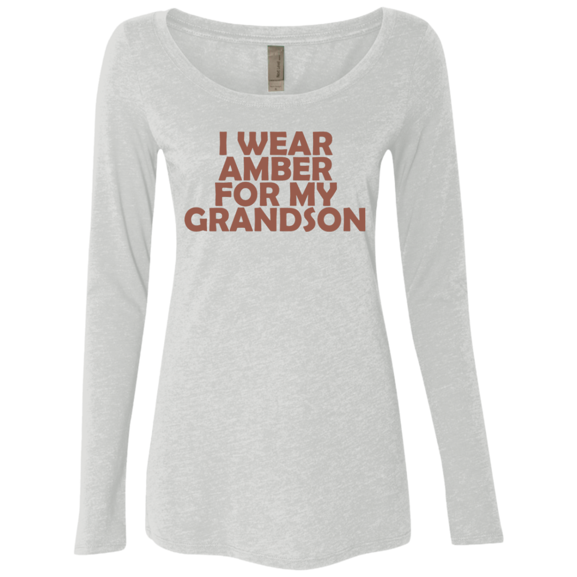 I Wear Amber For My Grandson Women's Long Sleeve Tee