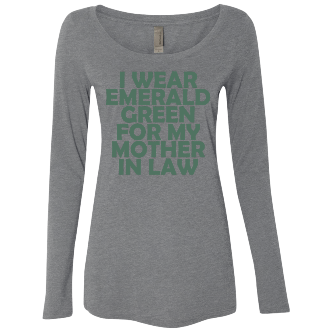 I Wear Emerald For My Mother In Law Women's Long Sleeve Tee