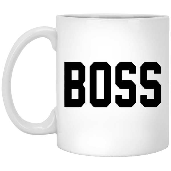 Boss 11 oz. White Coffee Mug - Trendy Tees