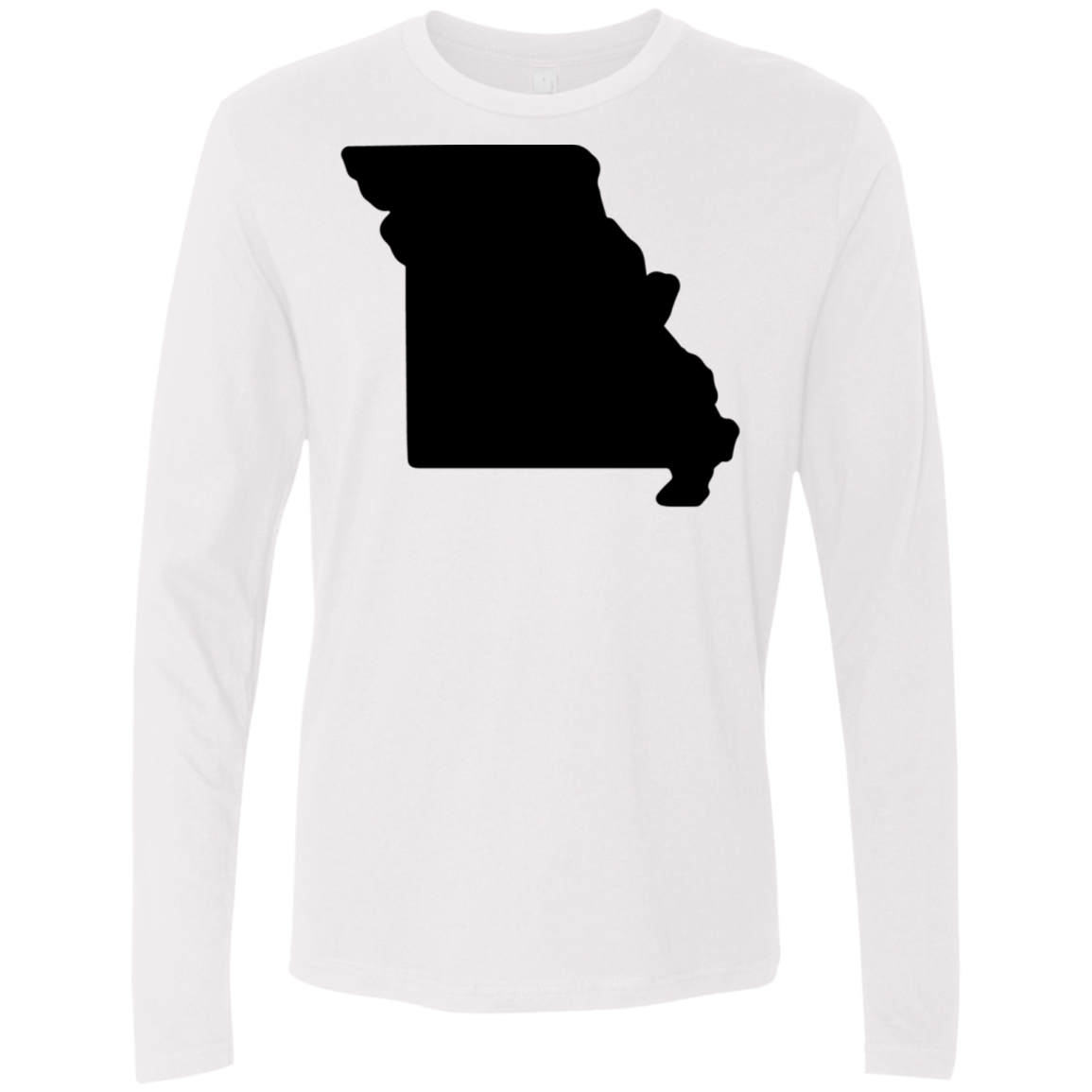 Missouri Black Men's Long Sleeve Tee