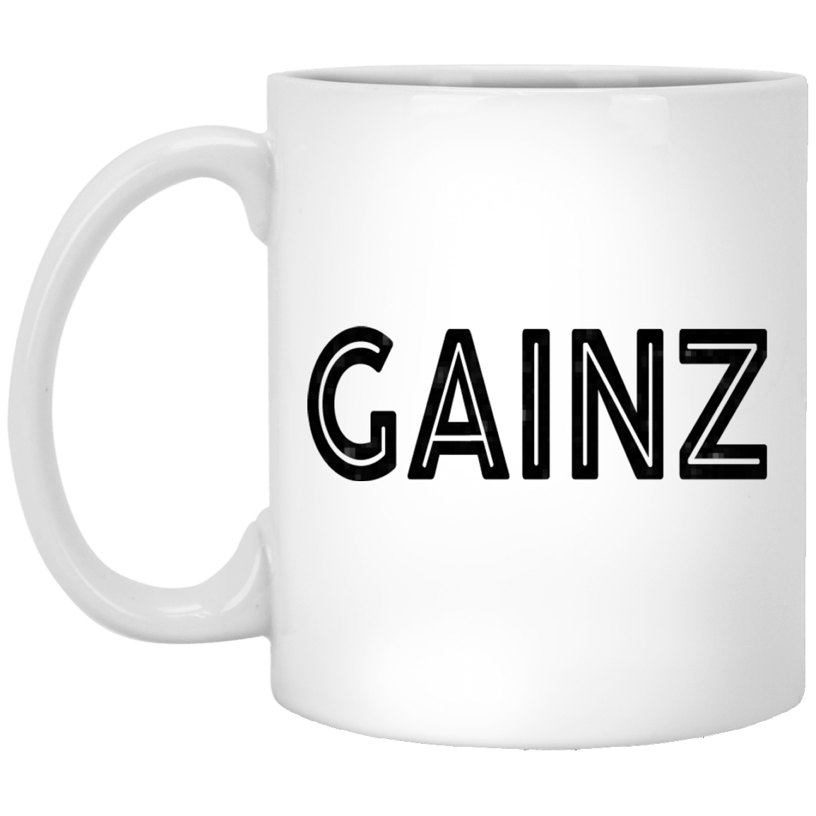 Gainz 11 oz. White Coffee Mug