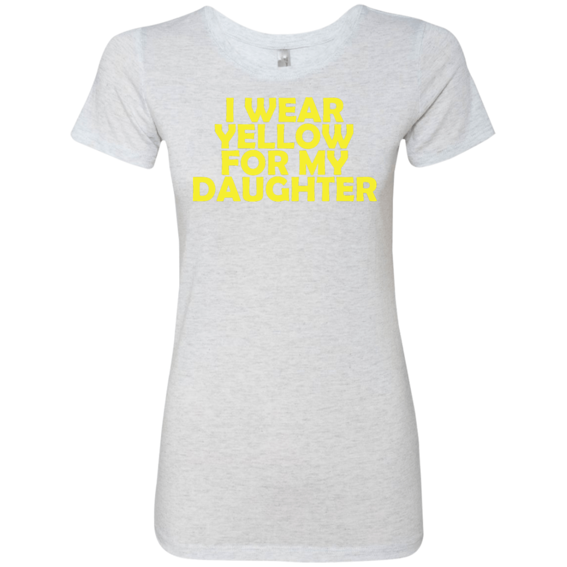 I Wear Yellow For My Daughter Women's Classic Tee