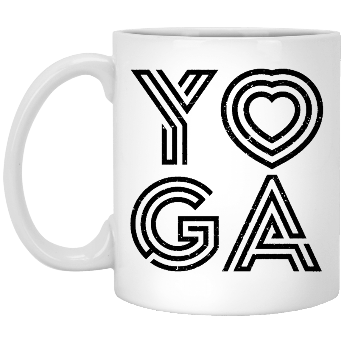 Yoga Heart 11 oz. White Coffee Mug