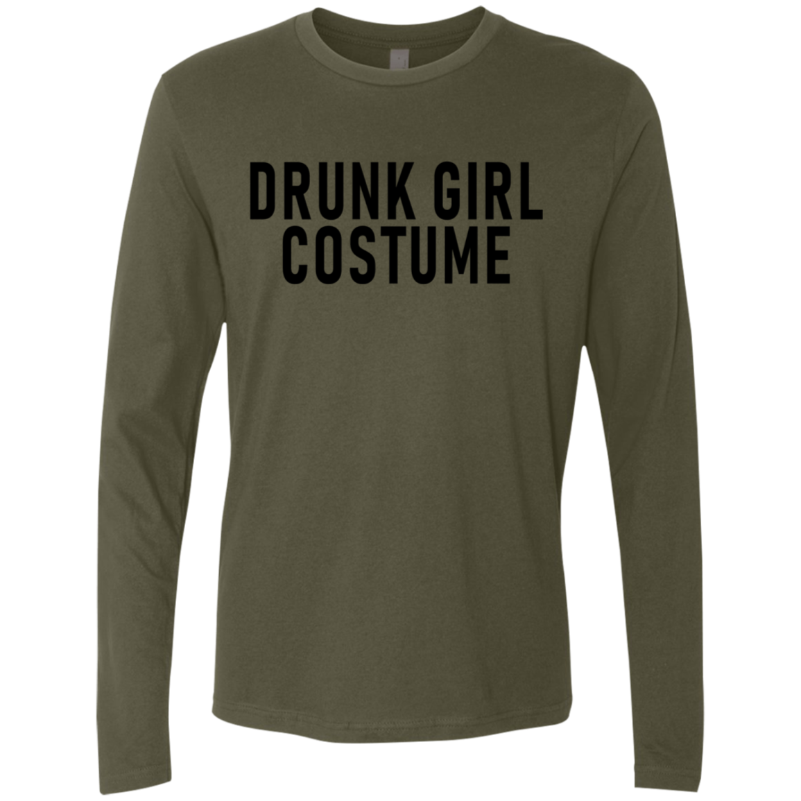 Drunk Girl Costume Men's Long Sleeve Tee