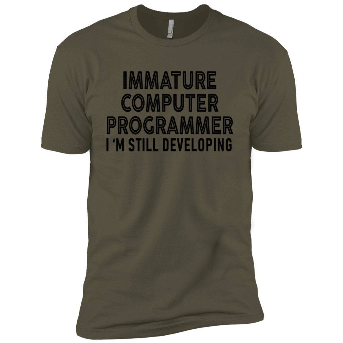 Immature Computer Programmer I'm Still Developing Men's Classic Tee