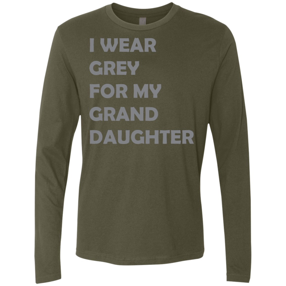 I Wear Grey For My Grand Daughter Men's Long Sleeve Tee
