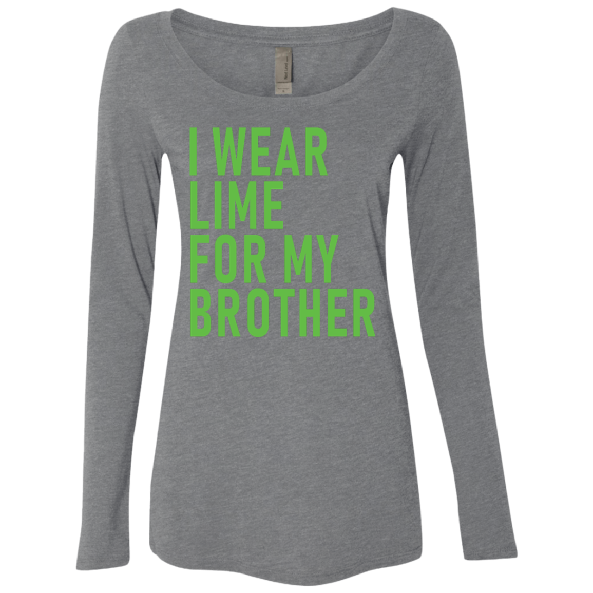 I Wear Lime For My Brother Women's Long Sleeve Tee