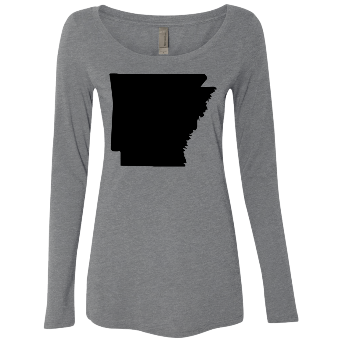 Arkansas Black Women's Long Sleeve Tee