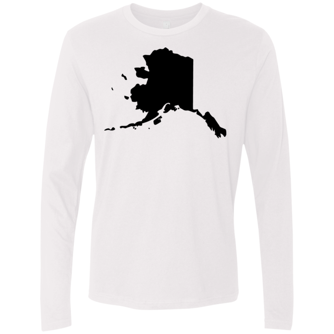 Alaska Black Men's Long Sleeve Tee