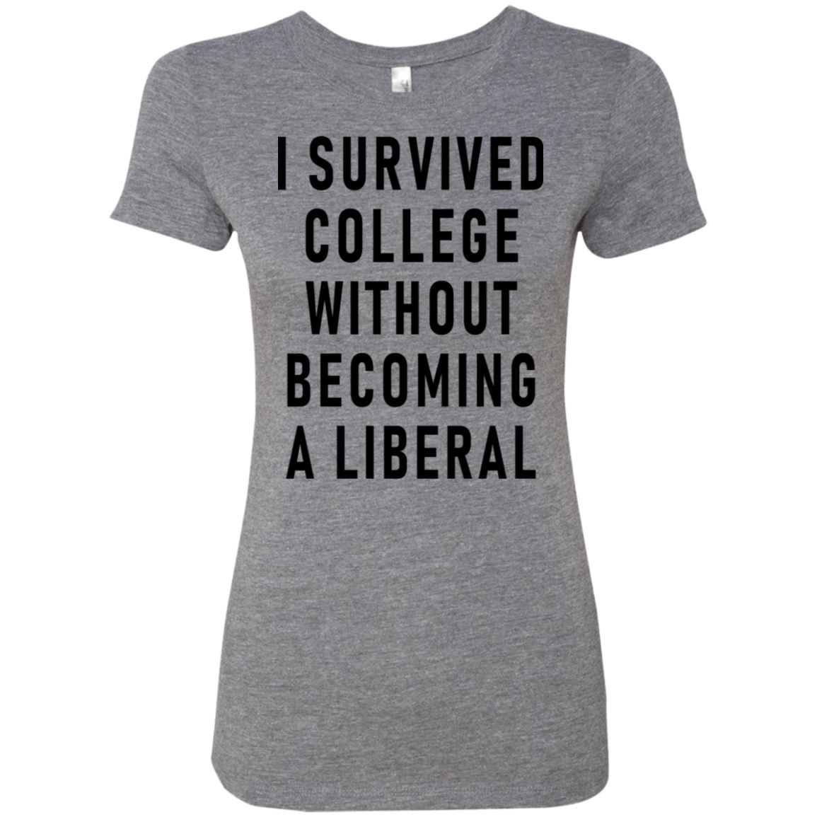 I Survived College Without Becomig A Liberal Women's Classic Tee