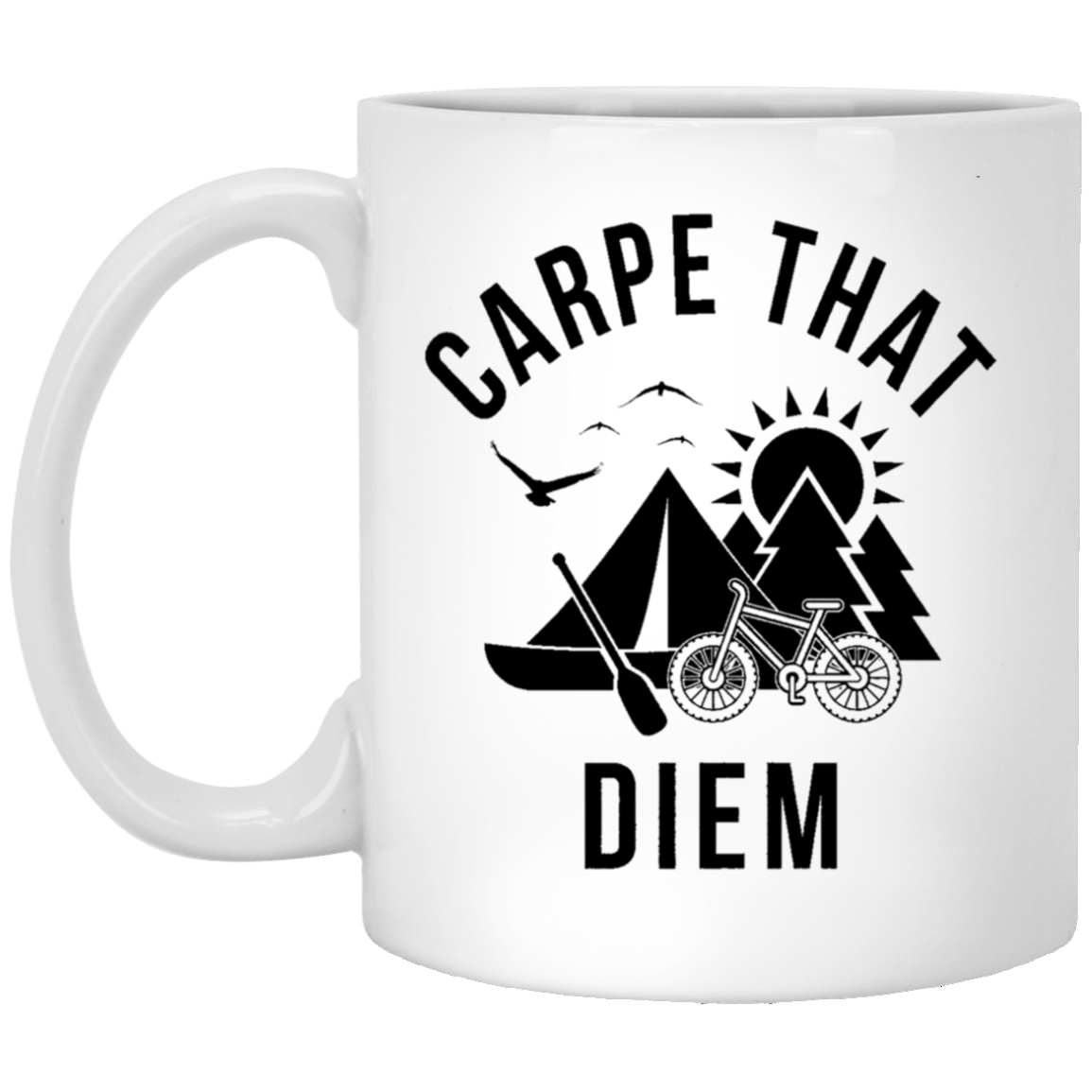Carpe that Diem 11 oz. White Coffee Mug - Trendy Tees