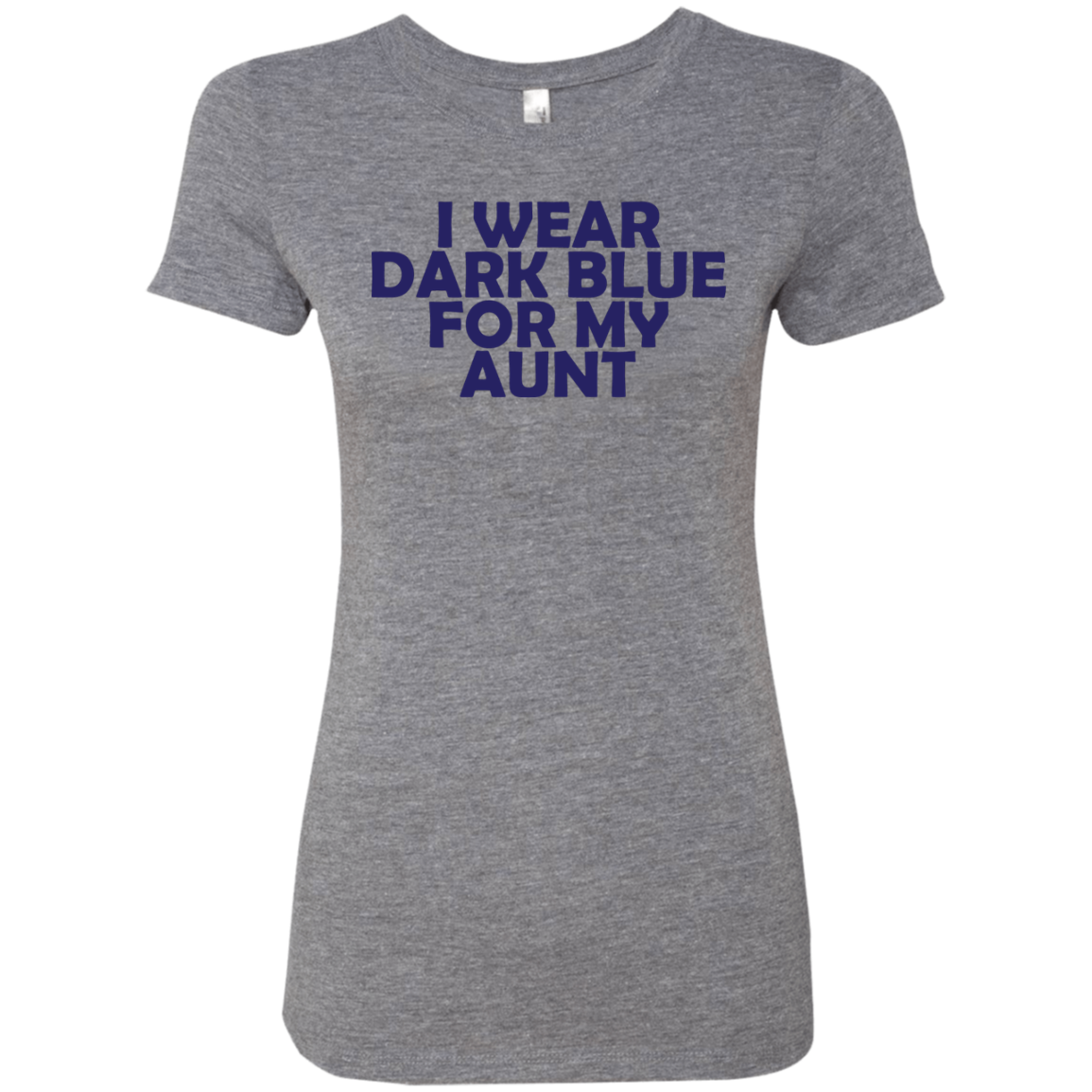 I Wear Dark Blue For My Aunt Women's Classic Tee