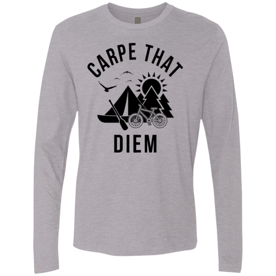 Carpe that Diem Men's Long Sleeve Tee - Trendy Tees
