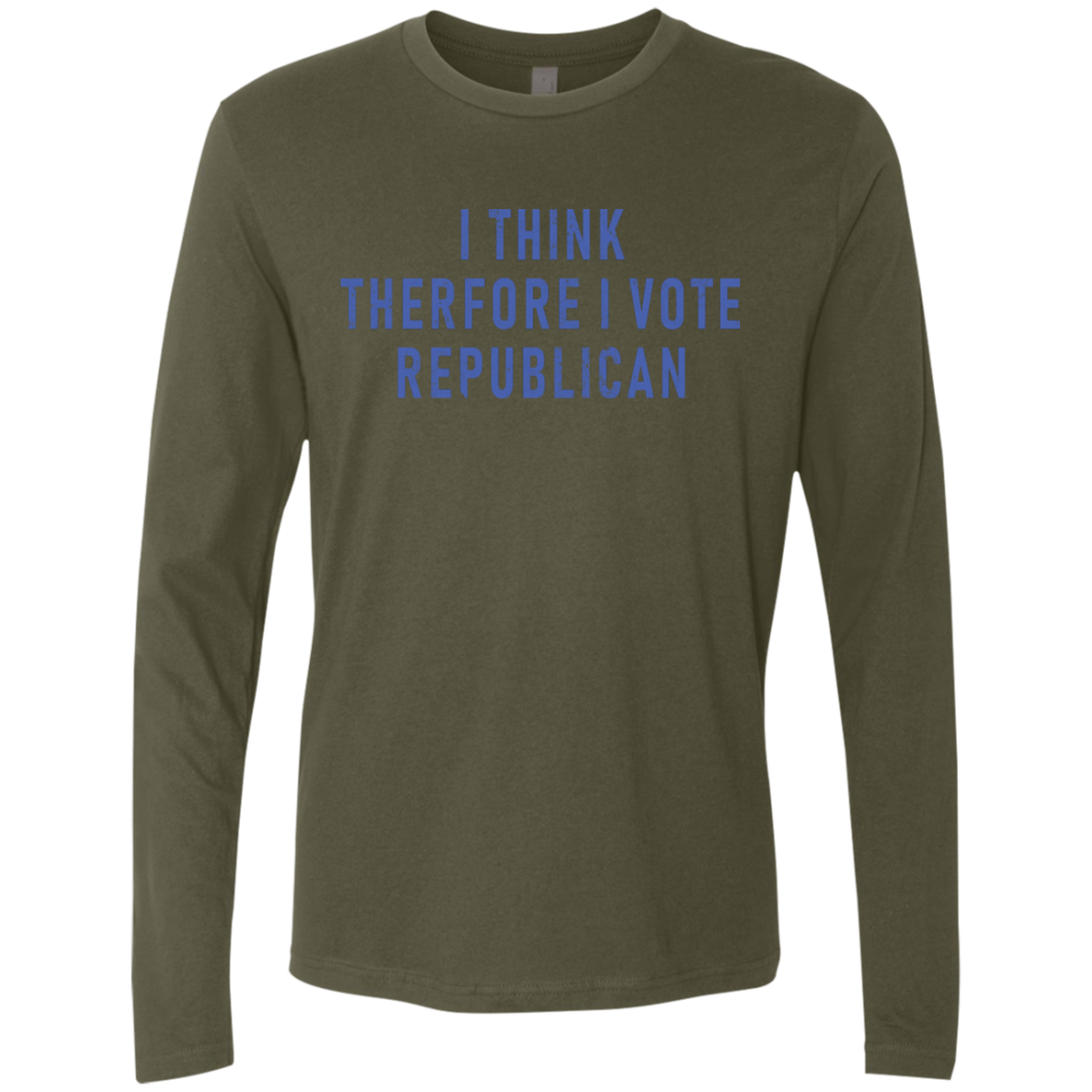 I Think Therefore I Vote Republican Men's Long Sleeve Tee