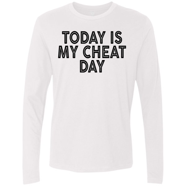 Today Is My Cheat Day Men's Long Sleeve Tee